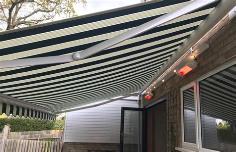 electric awnings uk electric awning with heaters and light track southton awningsouth