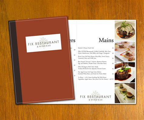 restaurant template restaurant menu template by danbradster on deviantart