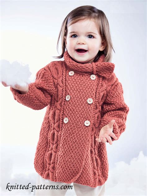 knitted coats for craft passions s cable coat free knitting link here
