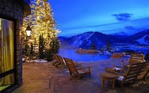 house with a beautiful view nice view winter lights snow villa house hotel verandah