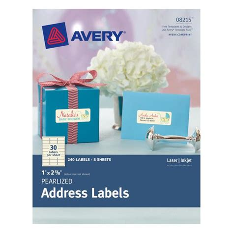 Avery Pearlized Ivory Address Labels 1 Quot X 2 5 8 Quot 240 Labels Cutcardstock Avery 3x3 Label Template