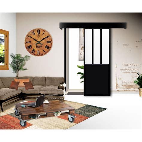 Porte Coulissante Interieur by Kit Porte Coulissante Atelier Noir Porte Int 233 Rieure