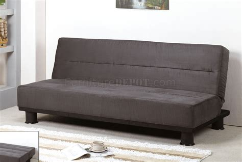 contemporary sleeper sofas grey micro suede contemporary sofa sleeper w black