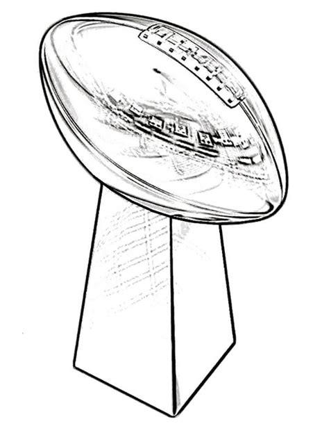 super bowl coloring page trophy super bowl coloring page printable coloring pages
