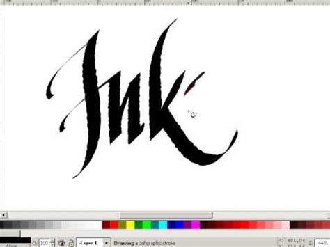 inkscape tutorial calligraphy inkscape digital calligraphy youtube