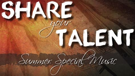 special songs your talent summer special