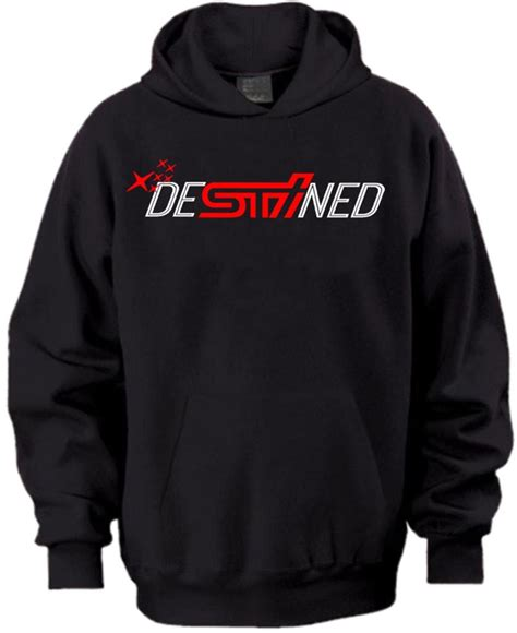 Subaru Sti Clothing by Destined Hooded Sweatshirt Subaru Sti Shirt Brz Wrx Hoodie