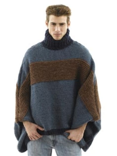 mens poncho knitting pattern knit the prettiest ponchos for fall free patterns