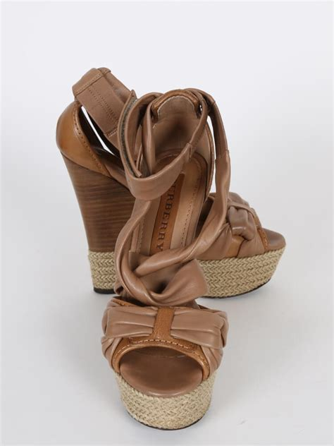 Sandal Wedges Ls08 Hitam 36 burberry brown leather wedge strappy sandals 36 5 luxury bags