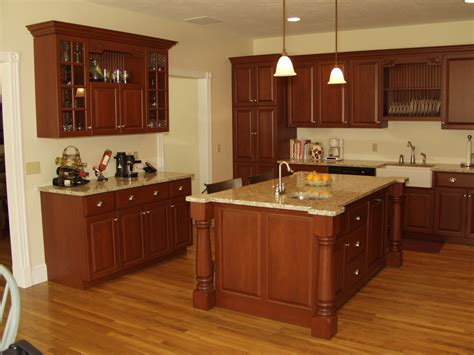 kitchen island with cabinets and seating kitchen cherry cabinets with granite countertops island