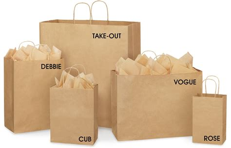 How To Make A Paper Shopping Bag - kraft shopping bags kraft shopping bag in stock uline ca