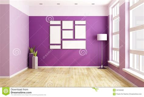 Black And White Dining Room Ideas empty purple room stock photography image 34156492