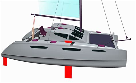 trimaran design principles kurt hughes multihull design catamarans and trimarans