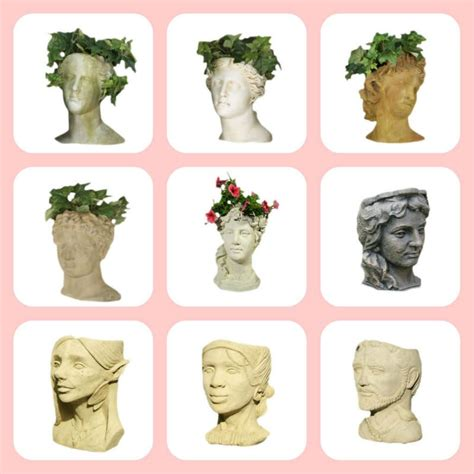 head planter pots for sale decorative clay lady face wholesale head flower pots buy