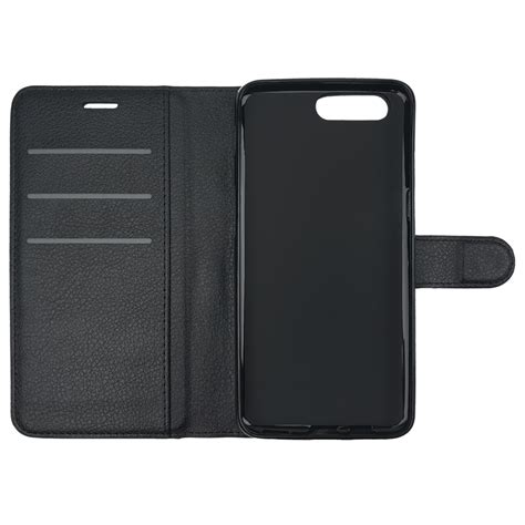 Leather Card Holder 5 leather wallet pouch for oneplus 5 black