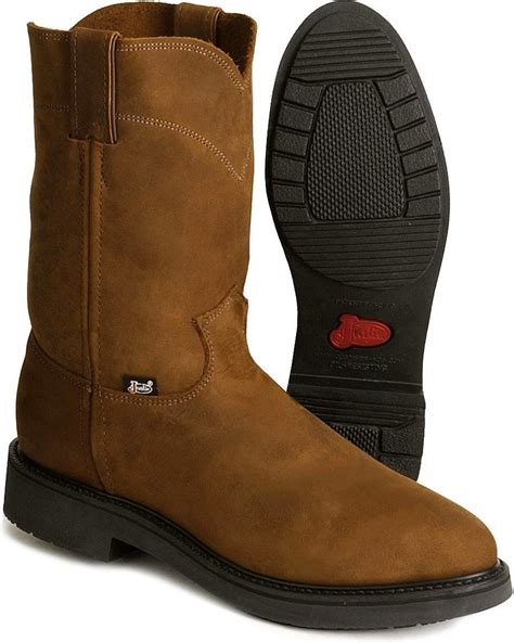 justin pull on work boots jow s justin original work boot pull on toe