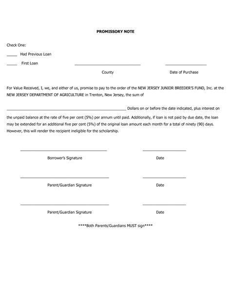 Loan Promissory Letter Sle Promissory Note Template Free Business Template