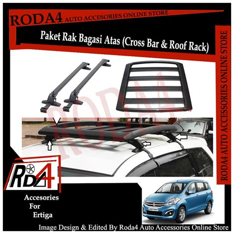 jual paket universal roof rack rak bagasi  cross bar