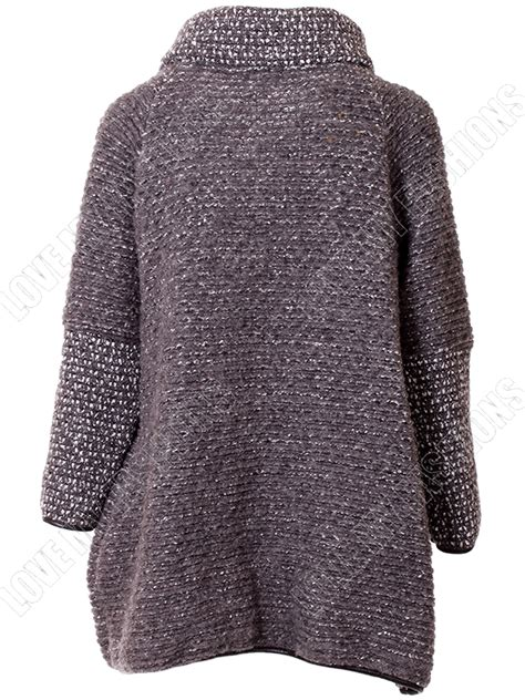 knitted coats for new womens italian lagenlook cape winter knitted jacket