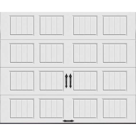 9 By 7 Garage Door Clopay Gallery Collection 9 Ft X 7 Ft 18 4 R Value Intellicore Insulated Solid White Garage