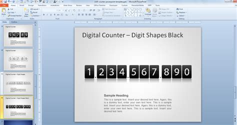 Counter Template free counter powerpoint template free powerpoint