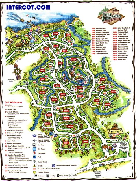 fort wilderness map walt disney world disney world vacation information guide intercot walt disney world