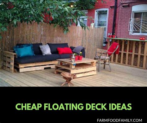 21 easy and inexpensive floating deck ideas for your backyard