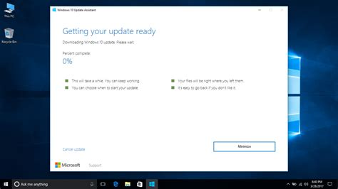 install windows 10 immediately you can now download and install windows 10 creators