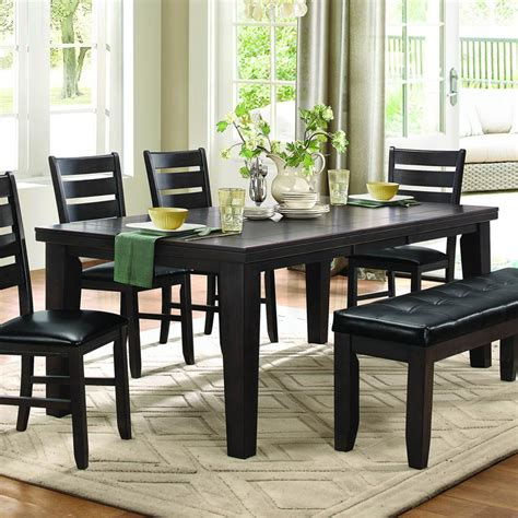 8 piece dining room set homelegance ameillia 8 piece rectangular dining room set
