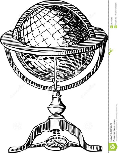 antique globe l vintage globe stock image image of continent exploration