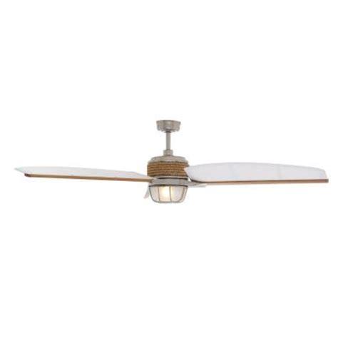 Hton Bay Escape 68 In Brushed Nickel Indoor Outdoor Hton Bay Escape Ceiling Fan