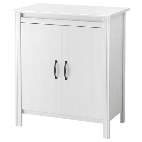 armoire with shelves and doors brusali cabinet with doors white 80x93 cm ikea