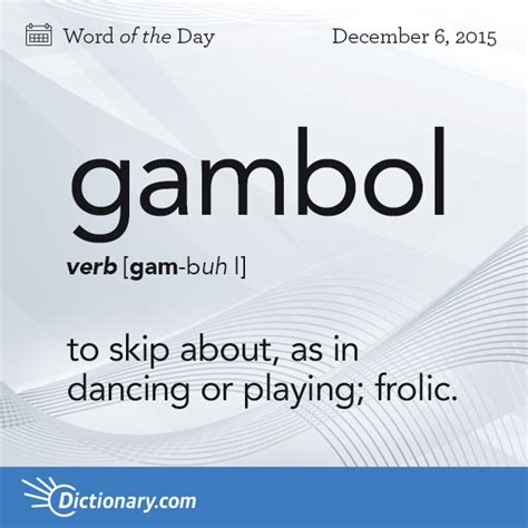 Definition Of The Word Vanity by Gambol Word Of The Day Dictionary