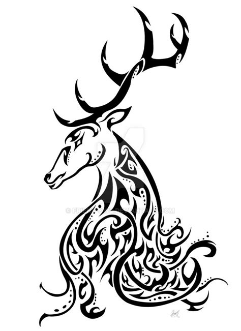 tribal stag tattoo kashmir stag awareness tribal by friend owl on deviantart