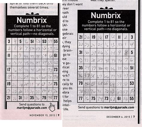printable numbrix puzzles parade numbrix knossos games blog