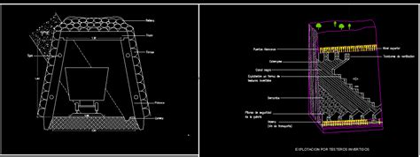 mining tunnel dwg section  autocad designs cad