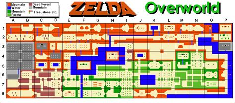 legend of zelda world map the legend of zelda world dungeon maps