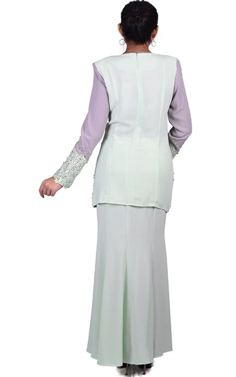 Baju Melayu Light baju kurung mini femina light green baju kurung