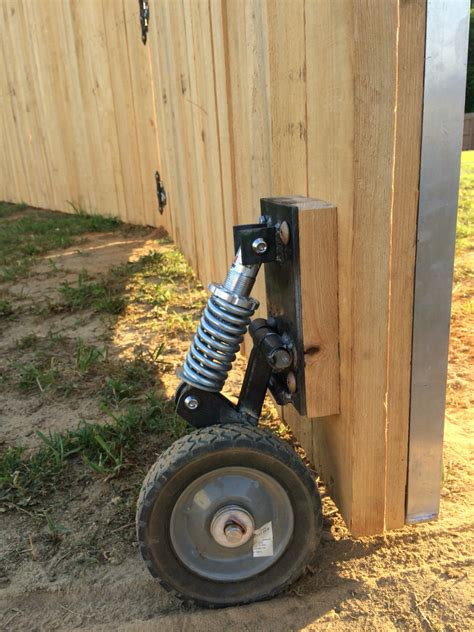 swing gate wheel for wood gate support pinteres