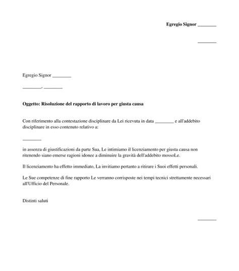 lettere di licenziamento modelli lettera di licenziamento modello word e pdf