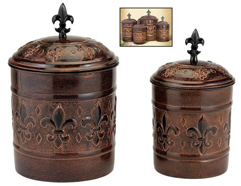 Bronze Kitchen Canisters by Bronze Kitchen Canisters Fluted Bronze Canisters Set Of