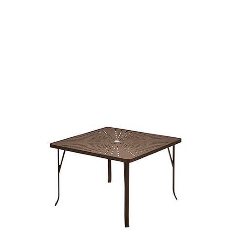 ada compliant table bases la stratta 42 quot square umbrella dining table ada compliant