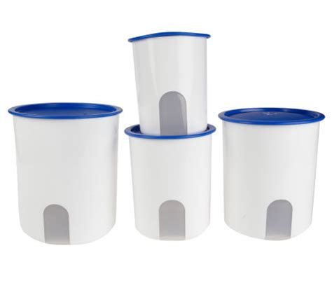 Tupperware Oz One Touch Canister Tupperware tupperware one touch reminder 4 canister set page 1 qvc