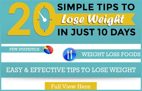 10 Weight Losers by 25 Simple Tips To Lose Weight In Just 10 Days Reckon Talk