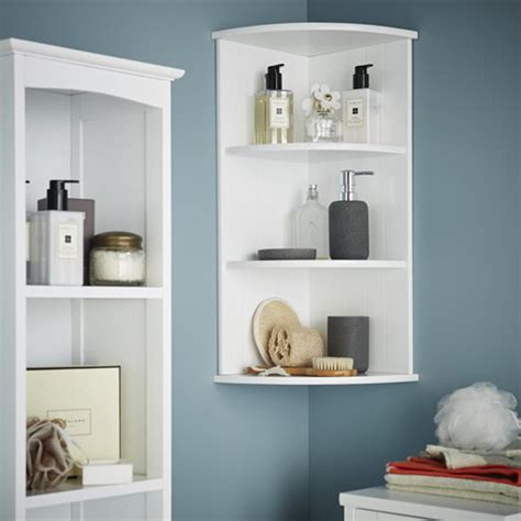 Corner Bathroom Storage Unit Store 3 Tier Shaker Corner Shelf