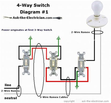 4 way light switch wiring how to wire a 4 way switch