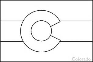 colorado state flag coloring pages usa for kids