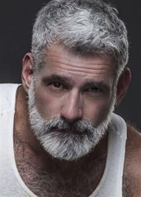 nice grey older mens hairstyles beard images white