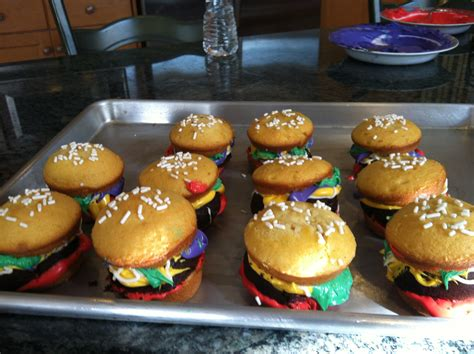 colored krabby patties how to make krabby patty cupcakes that d make even