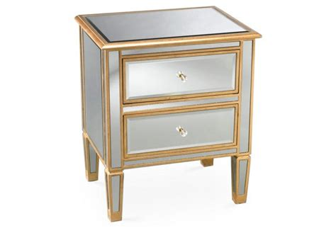 Pottery Barn Mirrored Nightstand by Bedroom Archives